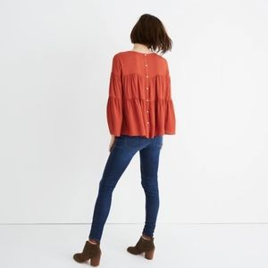 Madewell Tiered Button Back - S